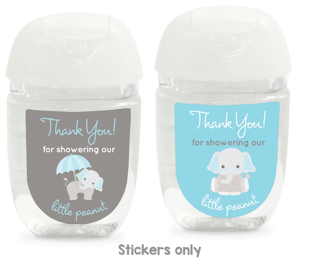Boy Baby shower favors hand sanitizer labels