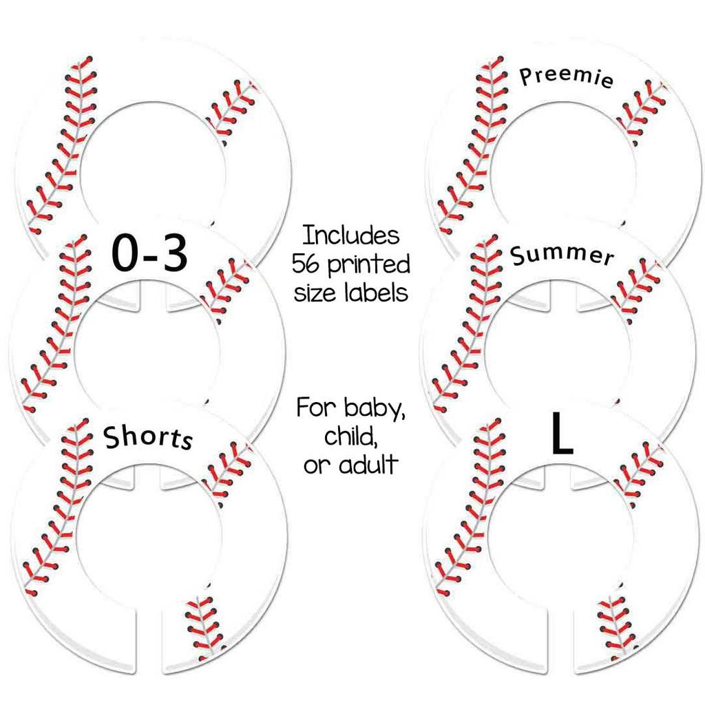 Baseball theme baby closet rod dividers make a great boys shower gift