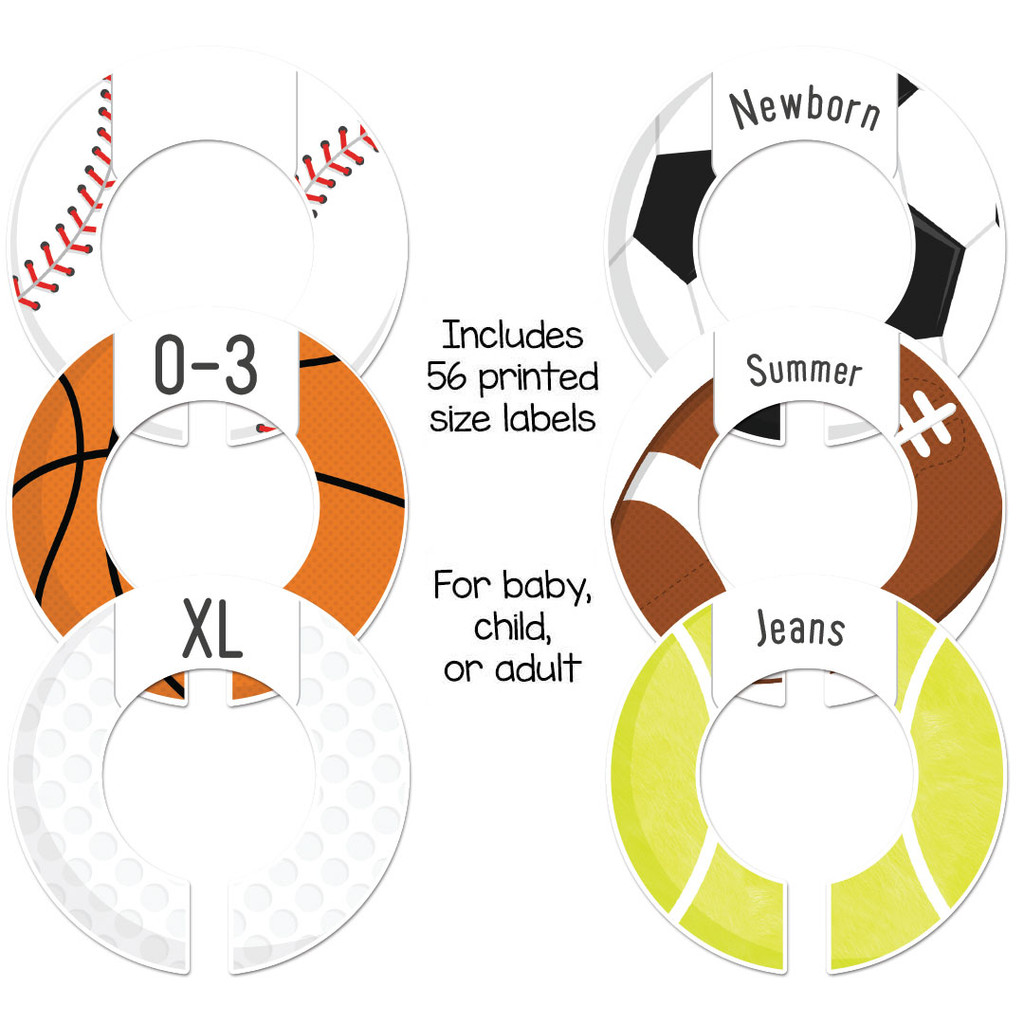 Sports theme baby closet rod dividers make a great boys shower gift