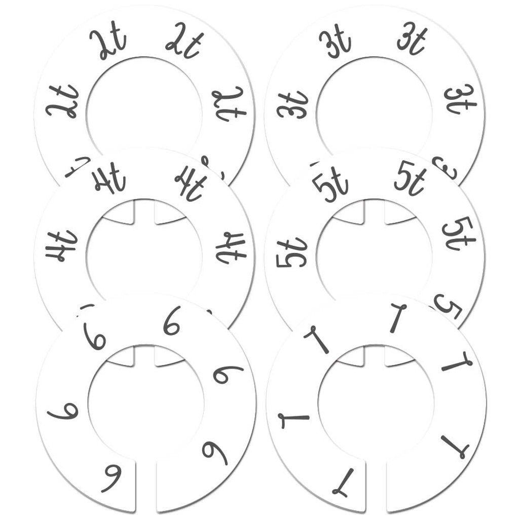White baby toddler closet dividers for a gender neutral baby shower gift.