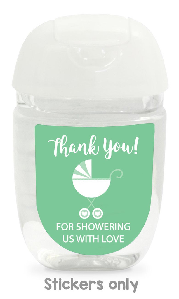 Hand sanitizer labels for boys baby shower fit bath and body works pocketbac.