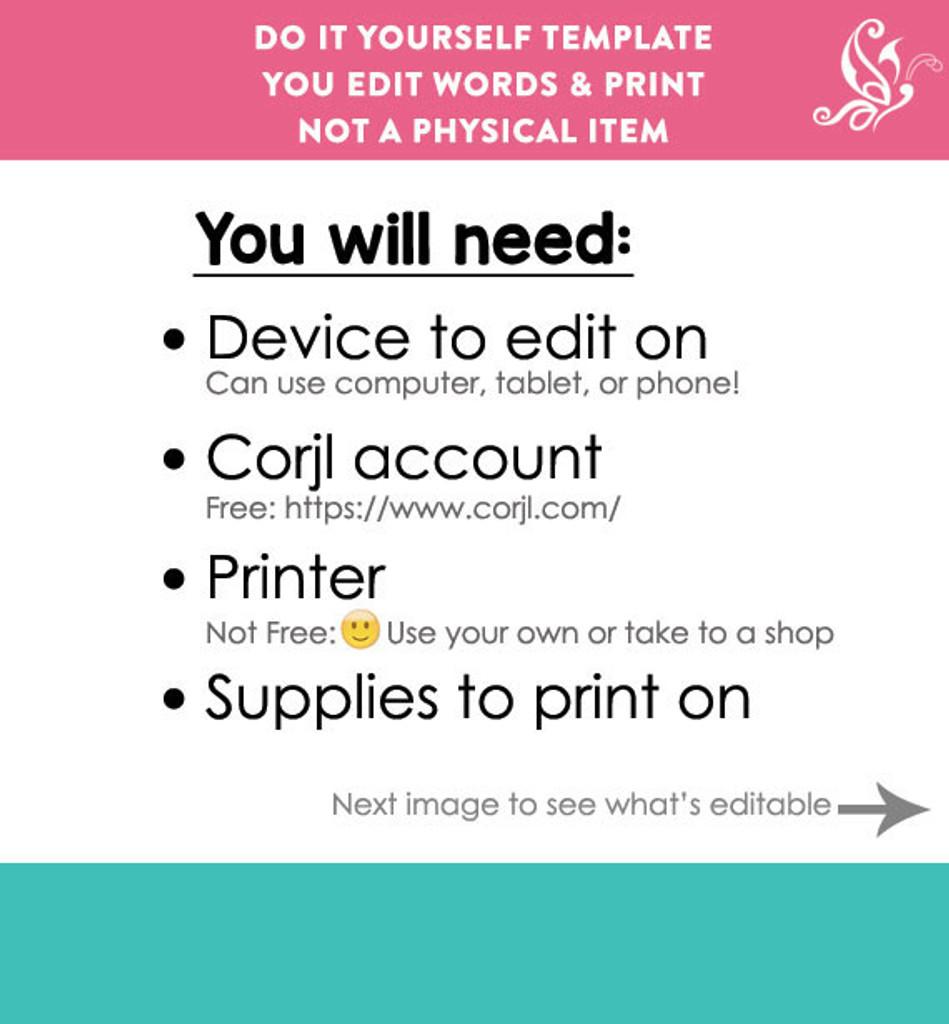 Printable Recipe Book Template Simple White editable PDF or Corjl