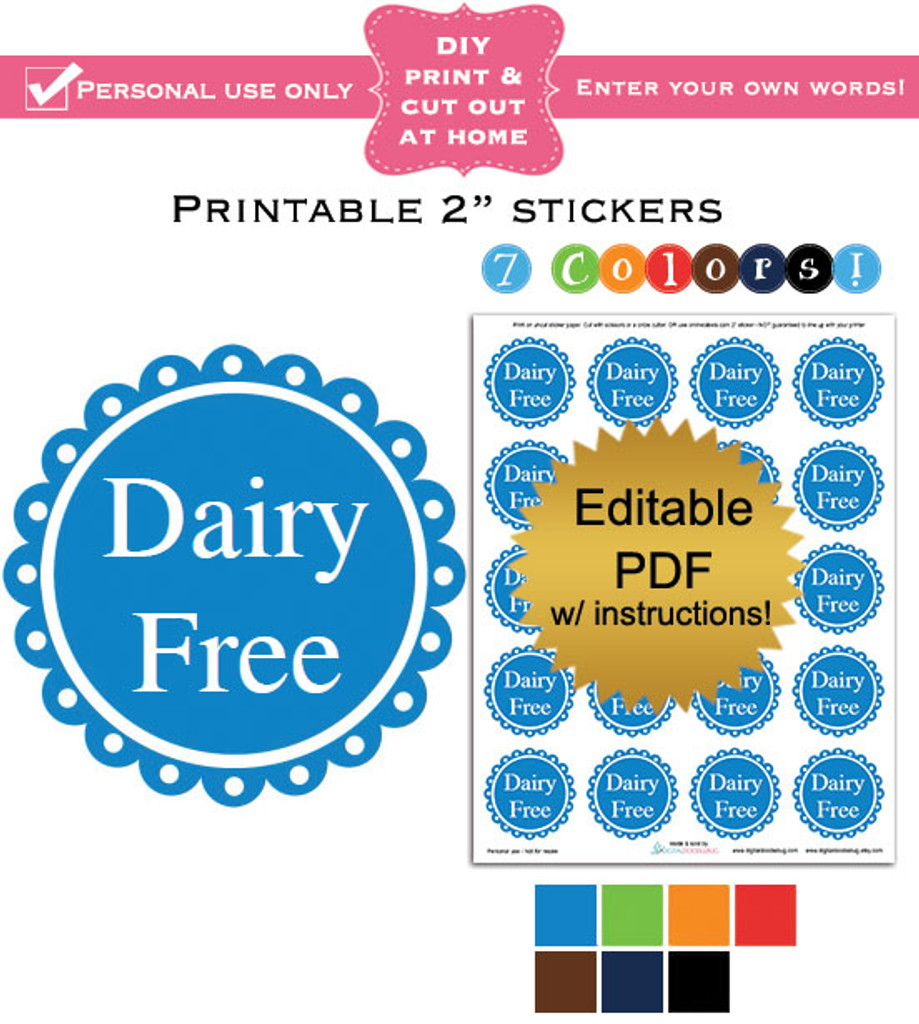 "2"" labels printable sticker template PDF boy colors"