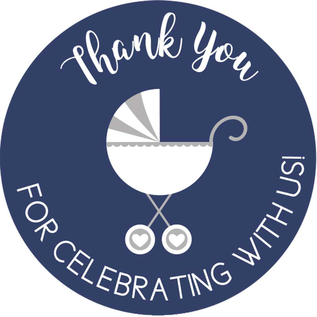 Thank you for celebrating with us DIY navy baby shower favors