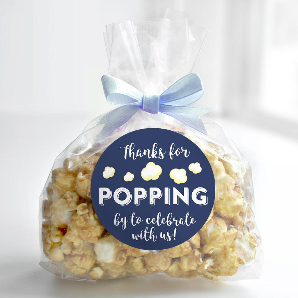Thank you for popping by to celebrate with us DIY boys baby shower or wedding popcorn favors
