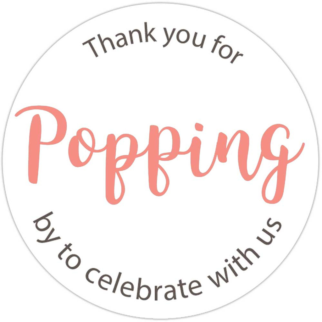 Thank you for popping by to celebrate with us DIY baby shower or wedding popcorn favors