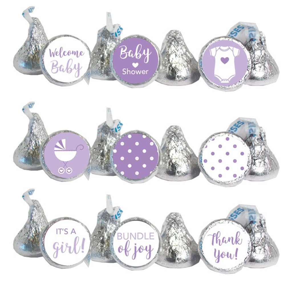 Purple Mini Candy Stickers 108 Labels