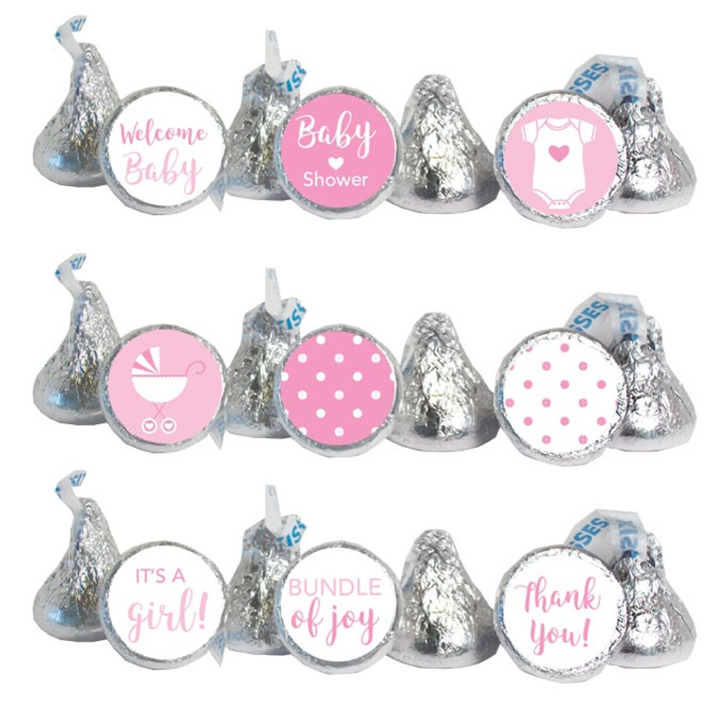 Pink Mini Candy Stickers 108 Labels