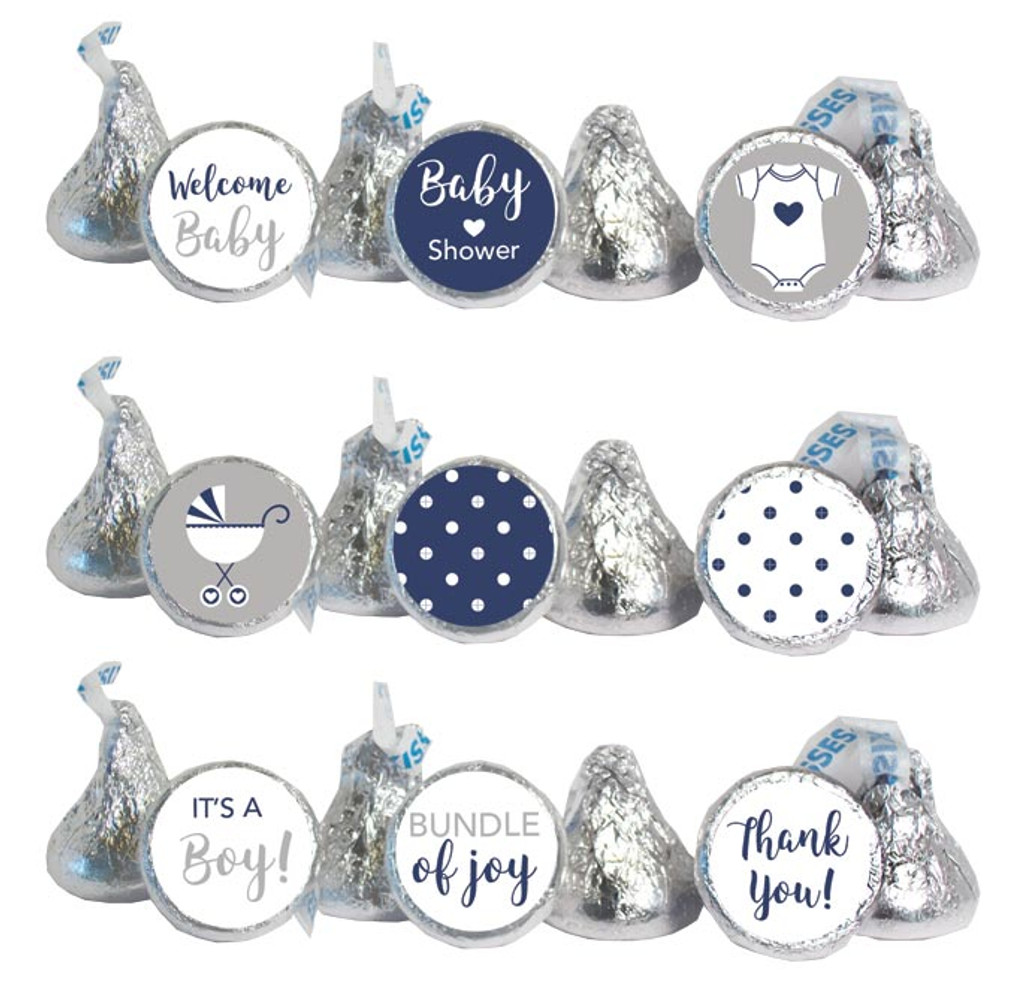 Navy Mini Candy Stickers 108 Labels