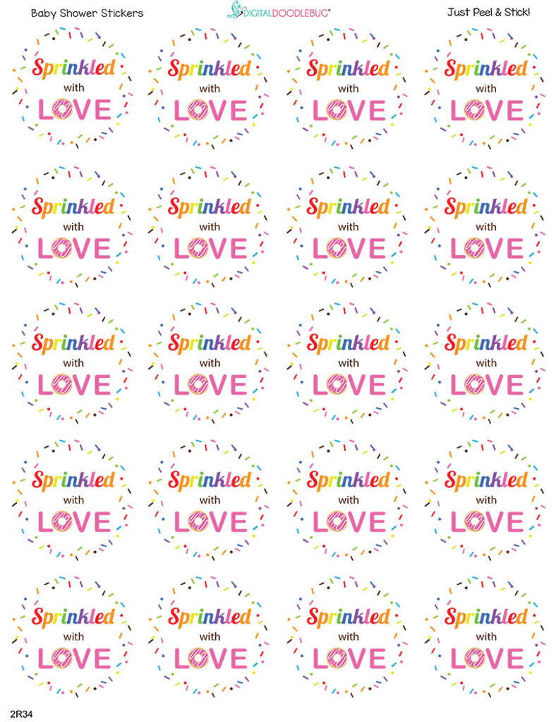 2 inch stickers precut on the sheet