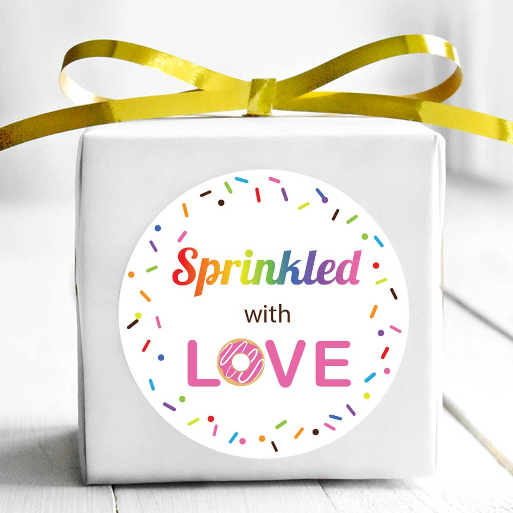 2 Inch Sprinkled with love stickers 20 labels