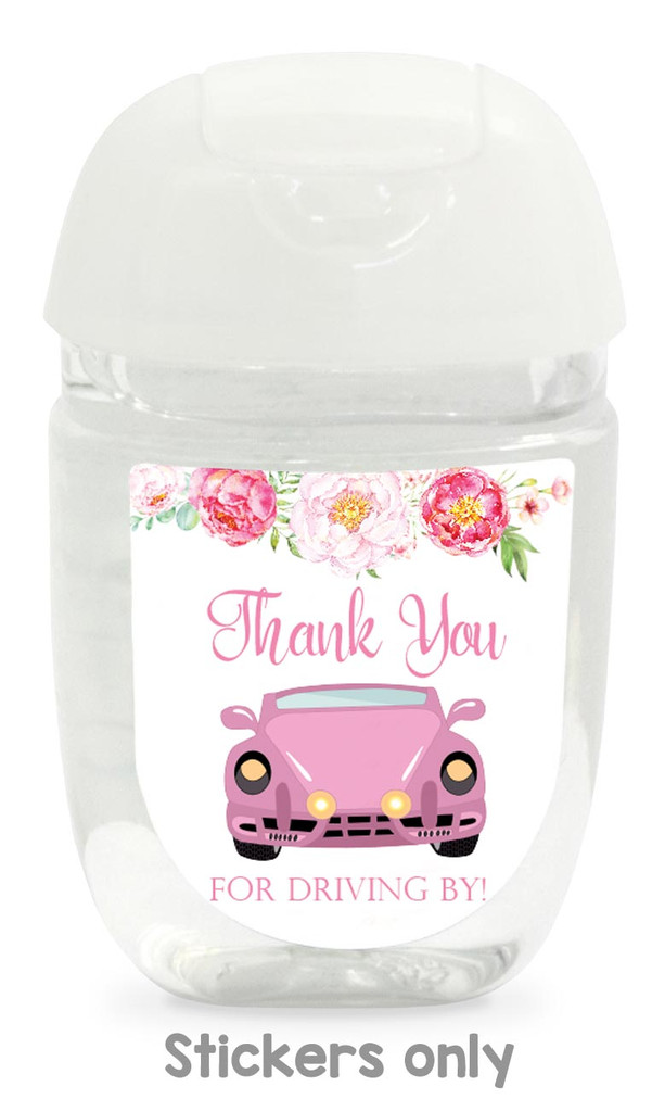 Thank you for driving by baby shower or wedding favors