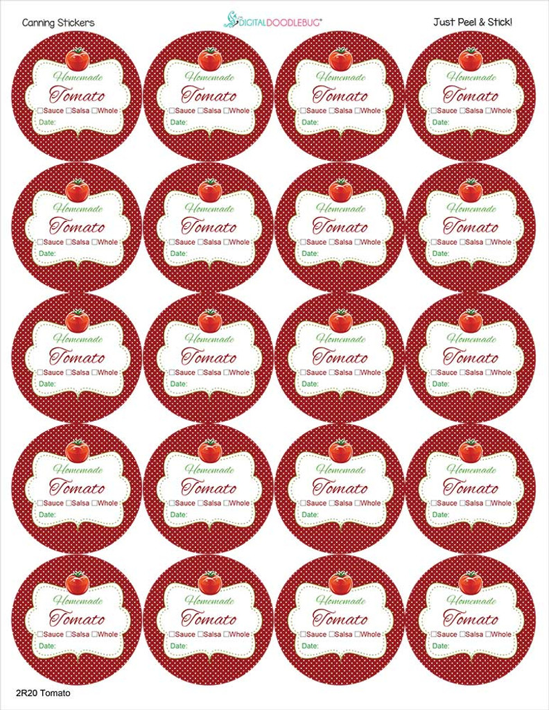 labels for tomato sauce, salsa or whole