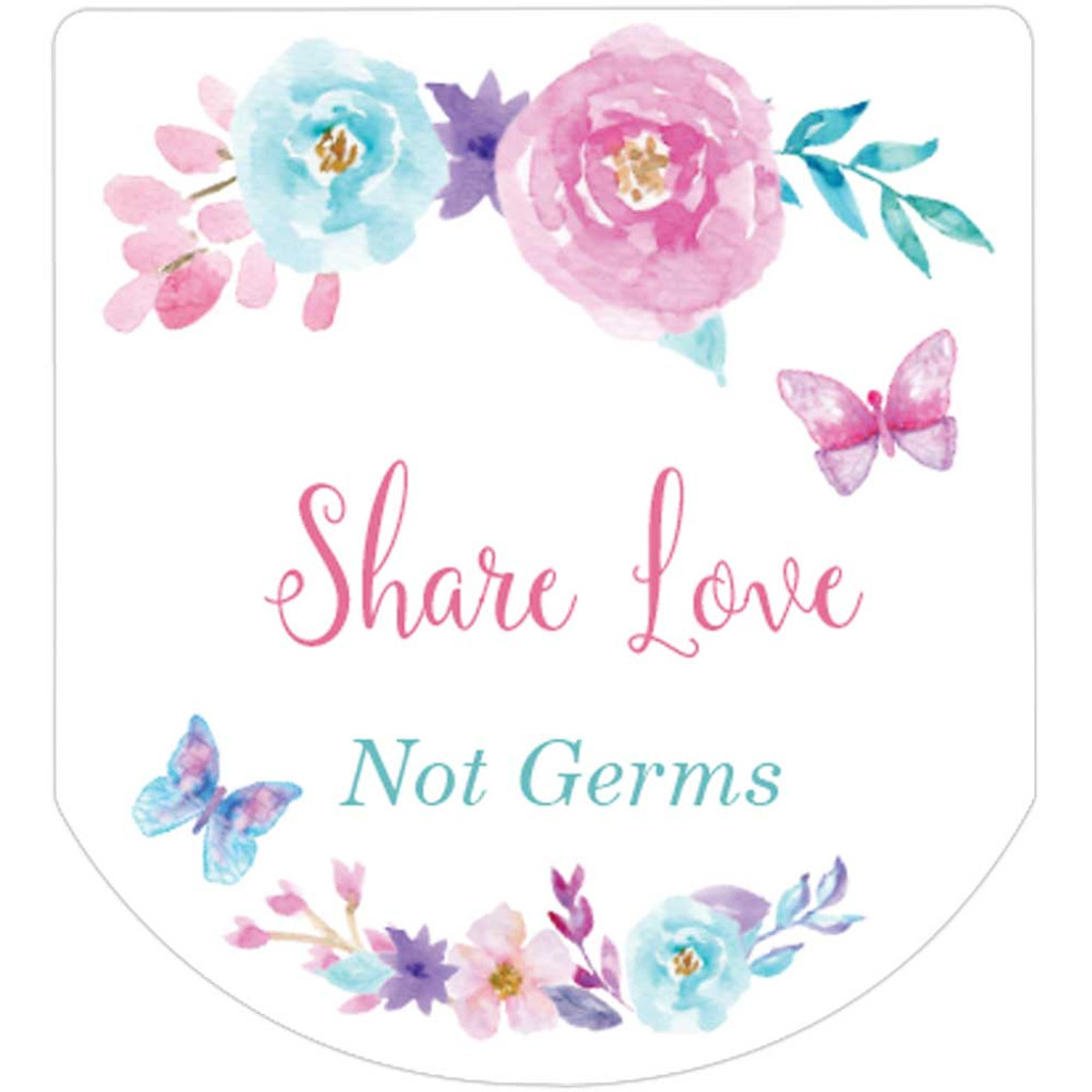 floral bridal shower or wedding stickers