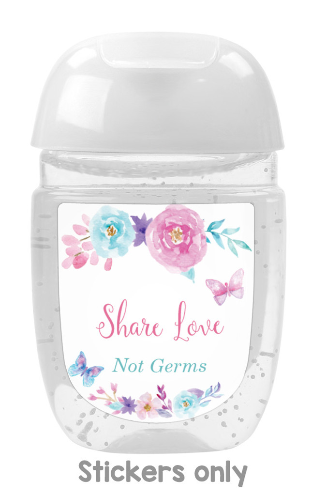 Hand sanitizer labels for butterfly baby shower favors fit bath and body works pocketbac