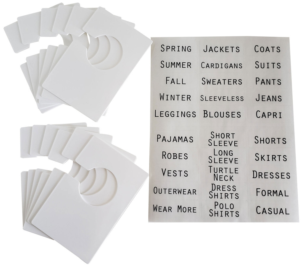 12 Large White Closet Dividers 4x6 inches