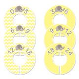 Elephant Yellow baby closet dividers