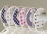 Pink & Navy Nautical baby closet dividers