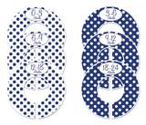 Navy Polka Dots baby closet dividers