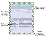Retro Green Printable Recipe Book Template Editable PDF