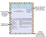 Retro Orange Printable Recipe Book Template Editable PDF