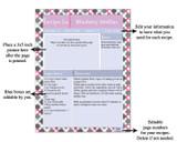 Retro Pink Printable Recipe Book Template Editable PDF