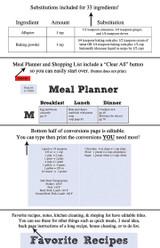 White Chalkboard Printable Recipe Book Template Editable PDF
