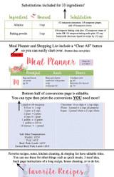Printable Recipe Book Flower Template Editable PDF or Corjl