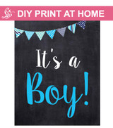 It's a boy sign Printable Poster