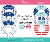 Nautical Printable Closet Dividers
