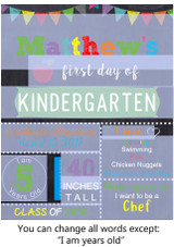 Editable Green School Sign Printable Poster PDF & Corjl