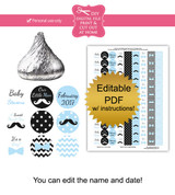 Little Man Printable Baby Shower Stickers