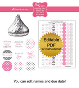 Polka Dot Printable Baby Shower Stickers
