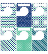 Navy blue and green nautical large closet dividers