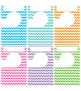 6 large clothing size dividers for adult or baby closet rainbow chevron