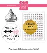 Mr. & Mrs. Printable Candy Stickers