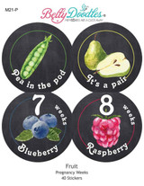 40 Fruit Themed Weekly Pregnancy Stickers