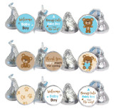 Bear stickers that fit Hershey Kisses, Rolos, and water bottle lids