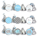 Blue Elephant Mini Candy Stickers 108 Labels
