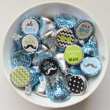 Little man theme boys DIY baby shower favor labels