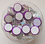 Purple elephant theme girl baby shower DIY favors