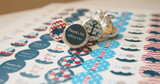Nautical Boys Mini Candy Stickers 108 Labels