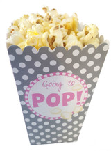 Going to pop 12 Popcorn Treat Boxes Baby Shower Favors