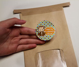 Peel and stick for gift bags, favors, boxes, treats, and more