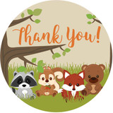 Woodland animal stickers DIY baby shower favors