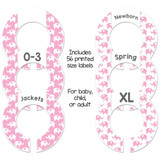 Pink elephant custom baby closet rod dividers make a great girls shower gift