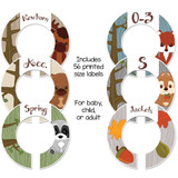 Woodland animals theme closet dividers for organizing your baby nursery or a gender neutral gift.