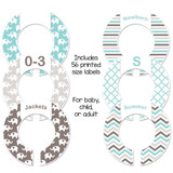 Aqua and gray elephants closet dividers for organizing your baby girl nursery.