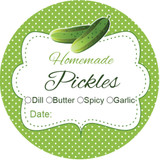 Labels for canning pickles