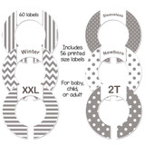 Gray closet dividers for a baby shower gift or organizing adult closet